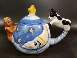 Cow Jumped Over Moon Teapot, Designpac Inc., Hey Diddle Diddle Nursery Rhyme