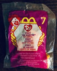 Strut The Rooster Beanie Baby Mcdonald's Toy Never Touched