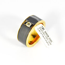 585 Yellow Gold Ring With Diamond 0,35ct. Champ Si Flanders Cut Gr.62