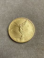 2020 1 Oz Mexican Gold Libertad Coin .999 Fine Note Rim Ding Low Mintage 1100