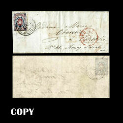 Poland 1860 Cover From Siedlce To Warszawa 10k Rose And Blue White Eaglecopy