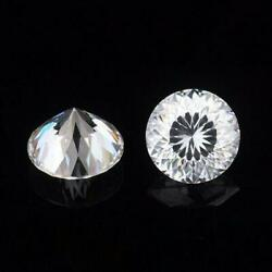 Vintage 12 Mm 6 Carat Colorless White Portuguese Cut Loose Moissanite 4 Ring