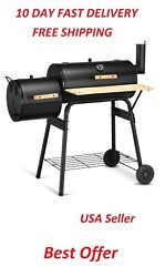 Costway Outdoor Large Bbq Grill Charcoal Barbecue Pit Patio Backyard Smoker Usa