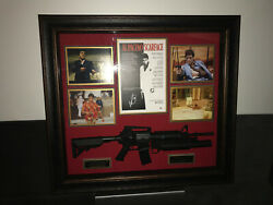 Autographed Scarface Poster And Framed Machine Gun