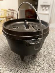 Discontinued Lodge 6 Cast Iron Camp Dutch Oven 1qt 3 Leg Kettle With Lid