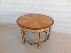Vintage William And Mary Style Mahogany Center Table 44w