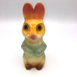 Antique Chalkware Easter Bunny Rabbit 7 Tall