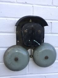 Large Vintage Double Electric Bell - Industrial / School / Fire Etc