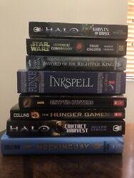 Lot Of 8 Books Hunger Games, Halo, Star Wars And More