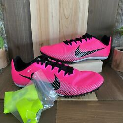 New Nike Zoom Rival M 9 Neon Pink Track Racing Shoes Spikes Size 9.5 Ah1020-602