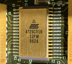 Very Rare Flown Gold Ic Out Of A F-22 Raptor Cni Unit Atmel At28c010 12fm