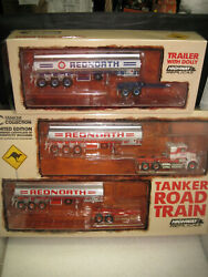 164 Highway Replica Tanker Road Train Red North Truck And Trailer + 2nd Trailer