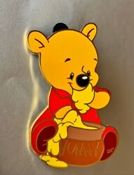 Disney Auctions Le 250 Pin P.i.n.s. Winnie The Pooh Baby With Hunny Honey Pot