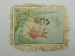 Lot Of 3 Antique 1800's Victorian Easter Themed Trade Cards