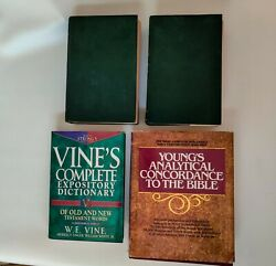 Matthew Henry Commentary Vol1 Vol2 Vines Expository Dictionary Young Concordance