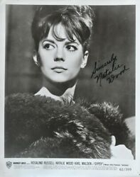 Natalie Wood Signed Photo - Gypsy - Rebel Without A Cause - West Side Story Wcoa