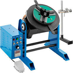 Vevor 110v Rotary Welding Positioner Turntable Table 3 Jaw Lathe Chuck 1-15 Rpm