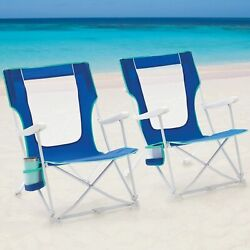 Mainstays Folding Beach Chair With Carry Bag Blue 2 Pack Free Shipping Usa