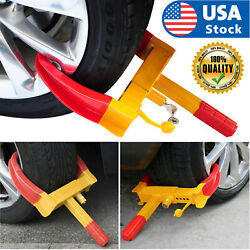 Usa Anti Theft Wheel Lock Clamp Boot Tire Claw Trailer Auto Car Truck Towing