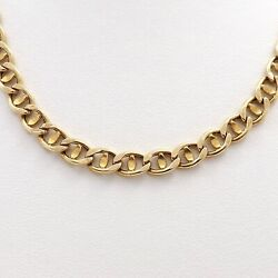 22k Gold 916 Italy Mariner Coffee Bean Link Chain Necklace 22in 17gr