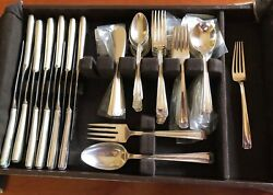 John And Priscilla By Westmorland Sterling Silver Flatware, Service 12, 76 Pcs.