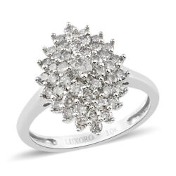 Shop Lc 10k White Gold Diamond Cluster Ring Jewelry Gift For Women Ct 1