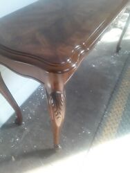 A Gorgeous Vintage Chippendale Style Walnut Sofa/hall Table W/ Ball And Claw Feet
