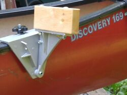 Side Saddle Canoe Trolling Motor Mount For Old Town With Vinyl Gunwales