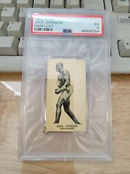 1923 W580 Jack Johnson Hand Cut Psa 5 Ex  Scarce In This Condition