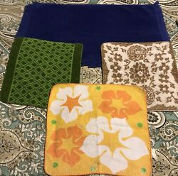 Vintage Cannon Terry Washcloths Hand Towel Lot 4 L111 Some Issues
