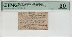December 1771 5 Shillings North Carolina Colonial Note Nc-137 Pmg About Unc 50