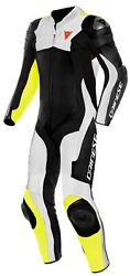 Suit Dainese Assen 2 1 Pc. Perf. Leather Suit Yellow White