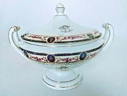 Vintage Round Covered Vegetable Stratford By Victoria Czech Serving Bowl W/lid
