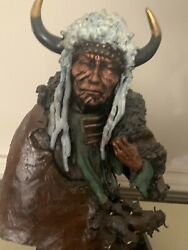 Vacant Thundersioux Warrior Bust-artist David Lemon. Limited Ed. Exc.condition