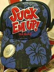 New Suck Em Up Hawaii Drink Beer Hat With Bottle Opener Hawaii Cap Lid Shaka