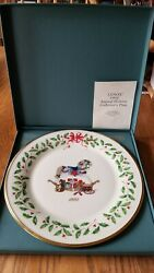 Lenox Limited Edition 1992 Christmas Plate Rocking Horse Drum And Bear
