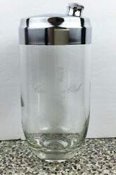 Canadian Club Whisky Glass Cocktail Shaker Martini Drink Mixer