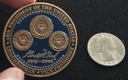 Never Seen President Gerald Ford 38th Potus Cvn-78 White House Us Challenge Coin