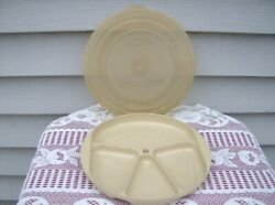 Littonware Microwave 9 Divided Plate W/lid Conventional And Convection Ovens Too