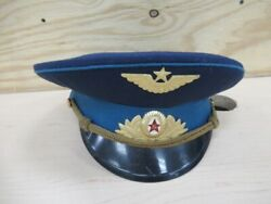 Cccp Russian Soviet Union Air Force Officer Parade Cap/ussr Red Army/uniform/hat
