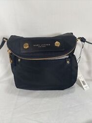 NEW AUTHENTIC MARC JACOBS NYLON NATASHA BLACK HANDBAG CROSSBODY WOMEN#x27;S M0012909 $104.00