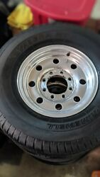 4 Original Ford F-350 Alcoa Wheels With Tires 16x7 8 6.5 Bolt Pattern.