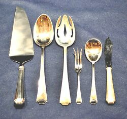 Fairfax Sterling Serving Pieces  6 Servers In Super Shape Not Monoand039ed