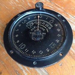 Ww1 Us Army Air Service Corps Altimeter Altitude Gauge Instrument Tycos Type C