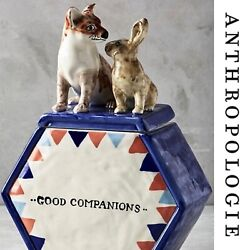 """Anthropologie Rare Sold Out """"good Companions"""" Cookie Jar By David Cleverly"""
