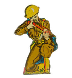 Marx Infantry Private With New Garand Rifle Soldiers Of Fortune Tin Target Metal