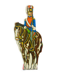1940s Marx Soldiers Of Fortune Uhlan Prussian Cavalry Soldier Tin Target Toy