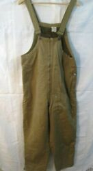 Wwii Us Army 2nd Type Tanker Winter Trousers W/suspenders - Sz Small - Dtd 1942