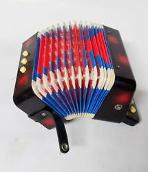 Concertina Accordion Musical Instrument Adults And Children With Carrying Strap