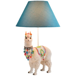 Llama Table Lamp Ivory Novelty Sculpture Statue Art Home Office Decor Accent New